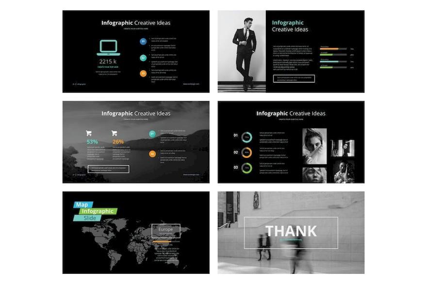 暗黑系炫酷PPT模板[PowerPoint/2.5MB]百度网盘下载插图(5)