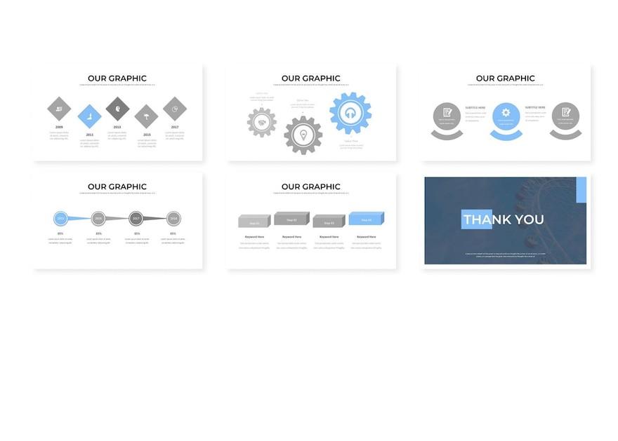 简约高质感的商务ppt模板[PowerPoint/1.5MB]百度网盘下载插图(3)