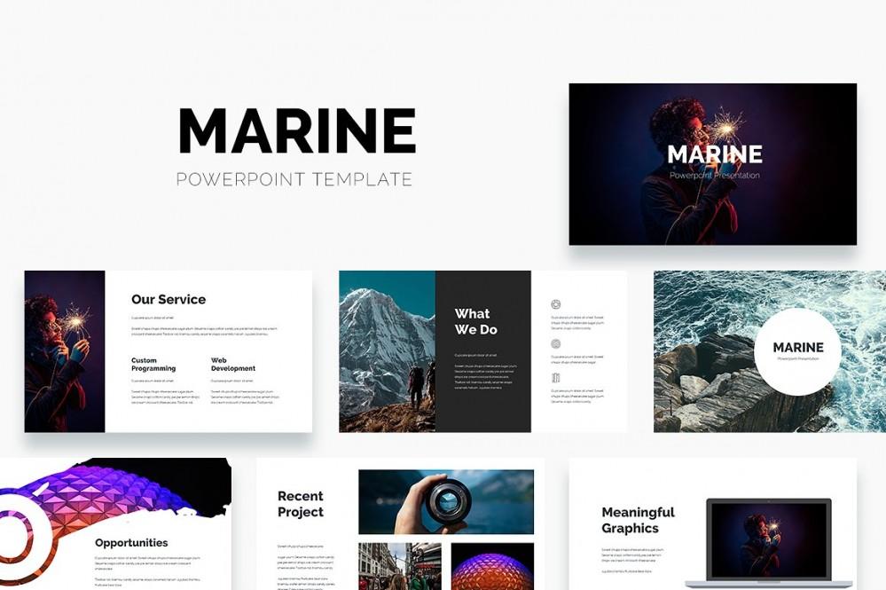 清新自然风格的海洋环境主题的PPT模板[PowerPoint/6.1MB]百度网盘下载