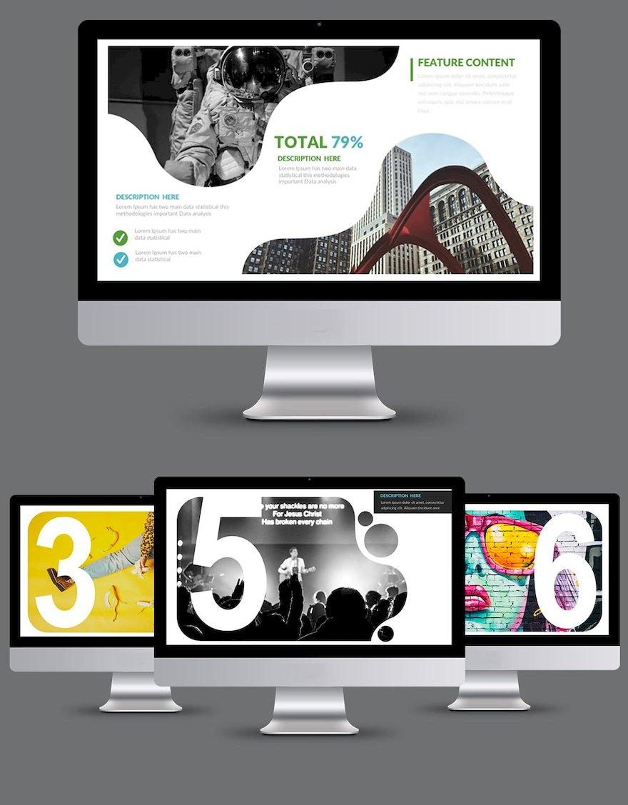 简洁的设计师作品展示ppt模板[PowerPoint/5.4MB]百度网盘下载插图(1)