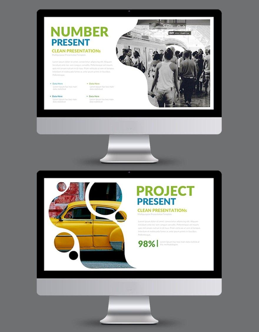 简洁的设计师作品展示ppt模板[PowerPoint/5.4MB]百度网盘下载插图(2)