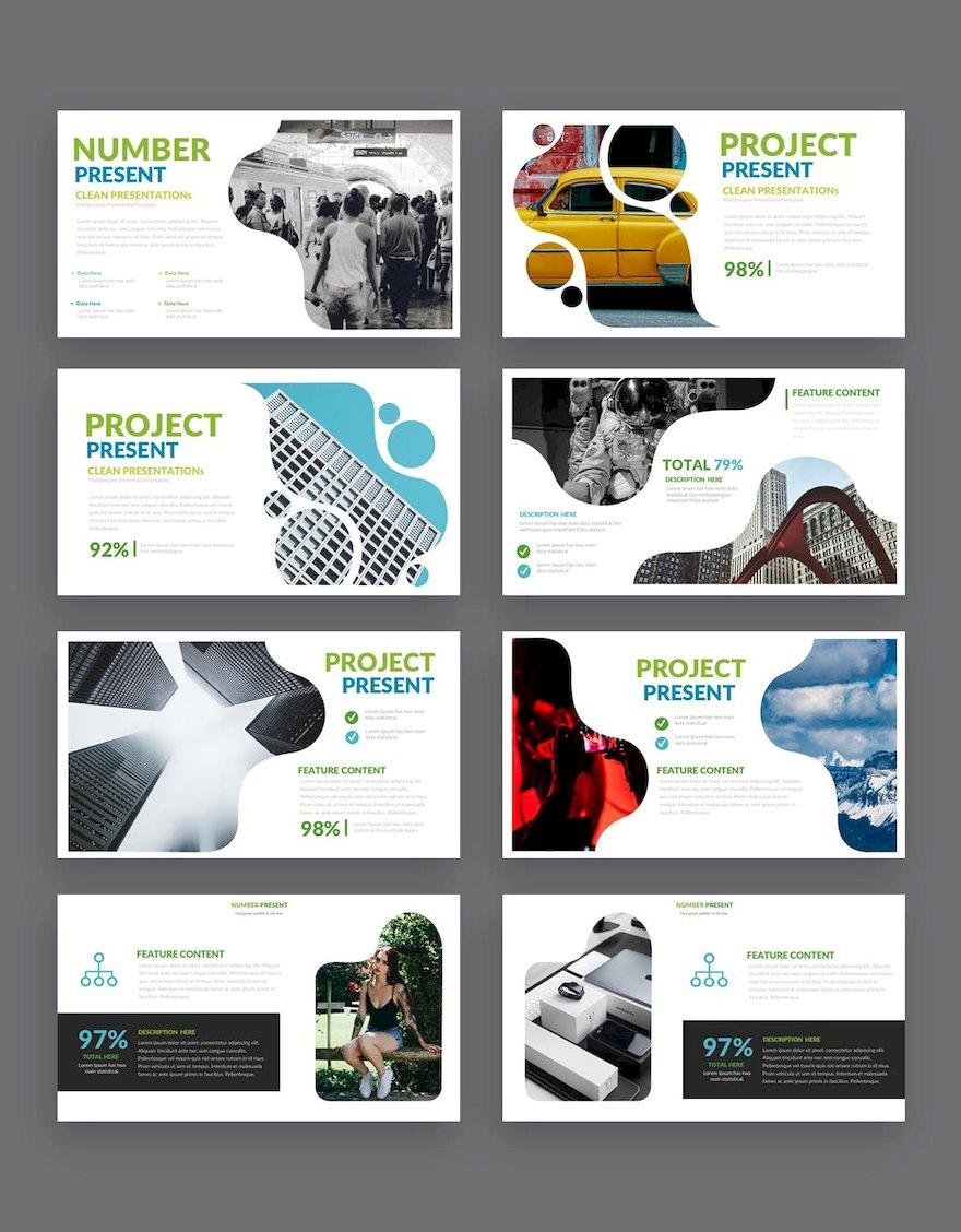 简洁的设计师作品展示ppt模板[PowerPoint/5.4MB]百度网盘下载插图(3)