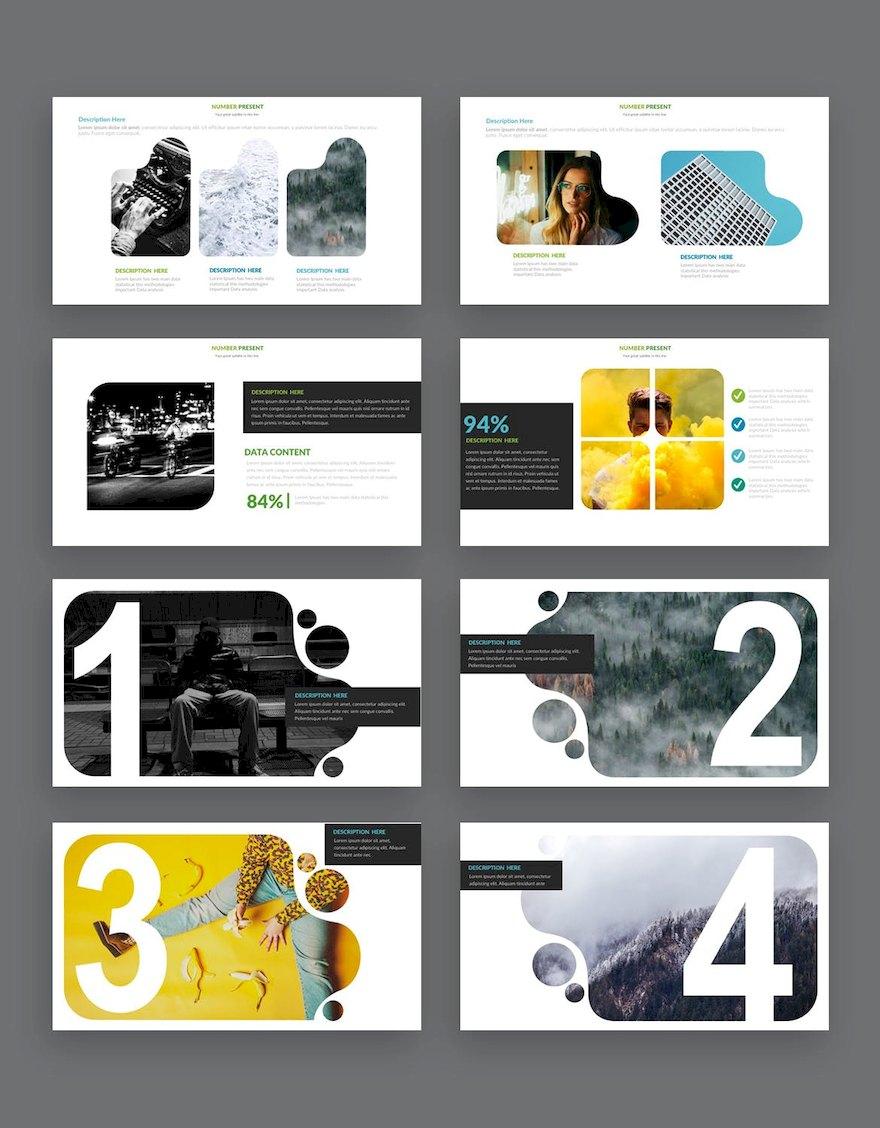 简洁的设计师作品展示ppt模板[PowerPoint/5.4MB]百度网盘下载插图(4)
