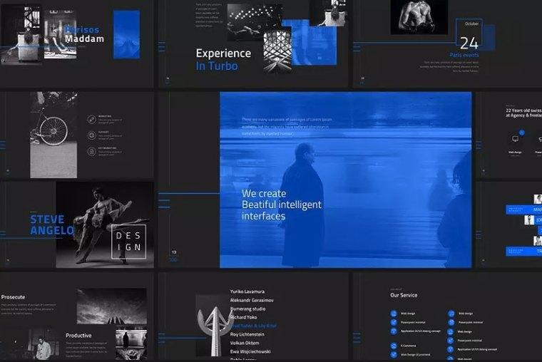 黑色高端的团队介绍ppt模板[PowerPoint/40.4MB]百度网盘下载