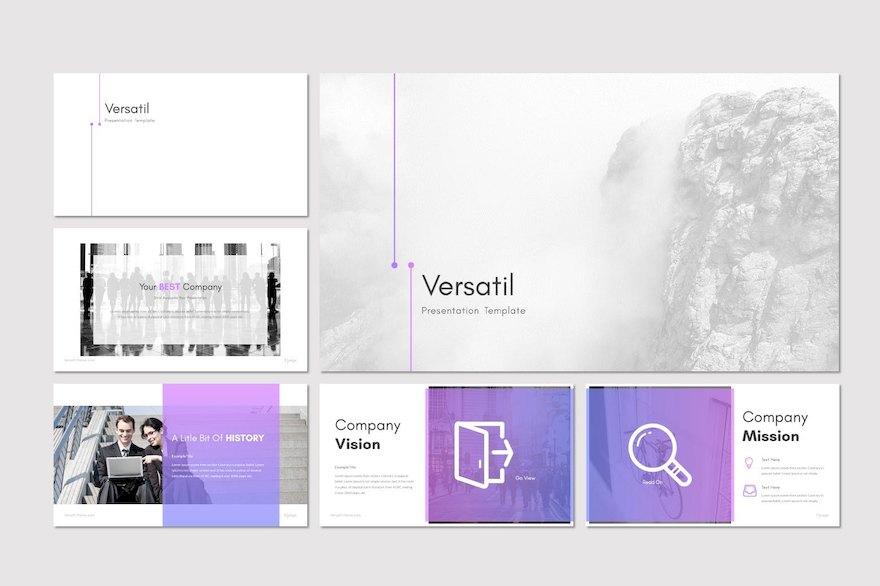 渐变色的企业介绍PPT模板[PowerPoint/1.1MB]百度网盘下载插图(1)