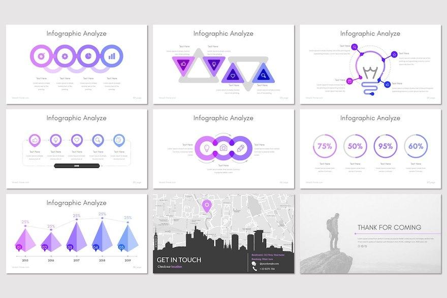 渐变色的企业介绍PPT模板[PowerPoint/1.1MB]百度网盘下载插图(4)