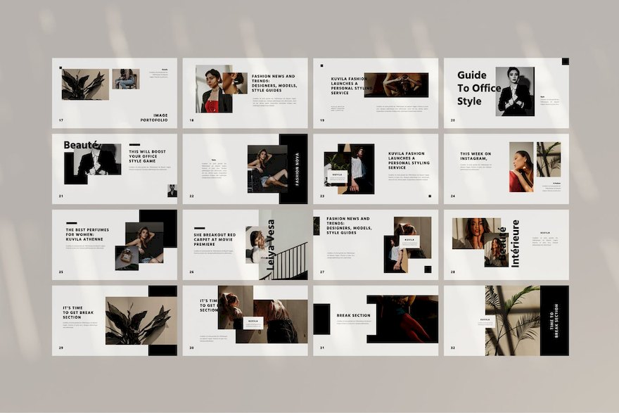 极简风格的轻奢商务ppt模板[PowerPoint/Keynote/3.4MB]百度网盘下载插图(5)
