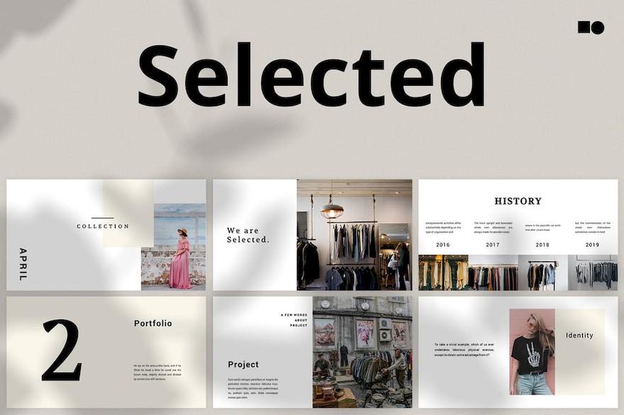 极简设计的服装化妆品品牌介绍ppt模板[PowerPoint/Keynote/2.2MB]百度网盘下载