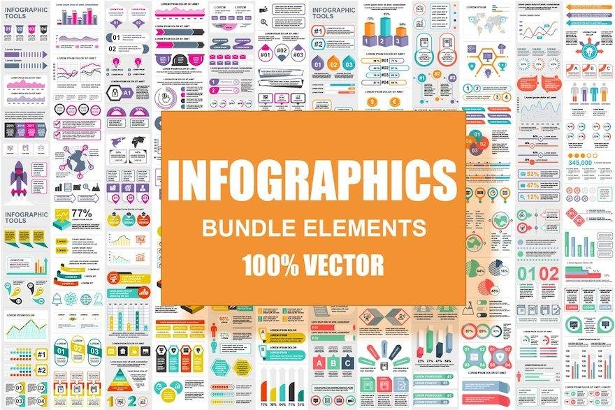 超全面的ppt信息图表元素设计模板[Illustrator/PowerPoint/PNG/svg/184.2MB]百度网盘下载插图(1)