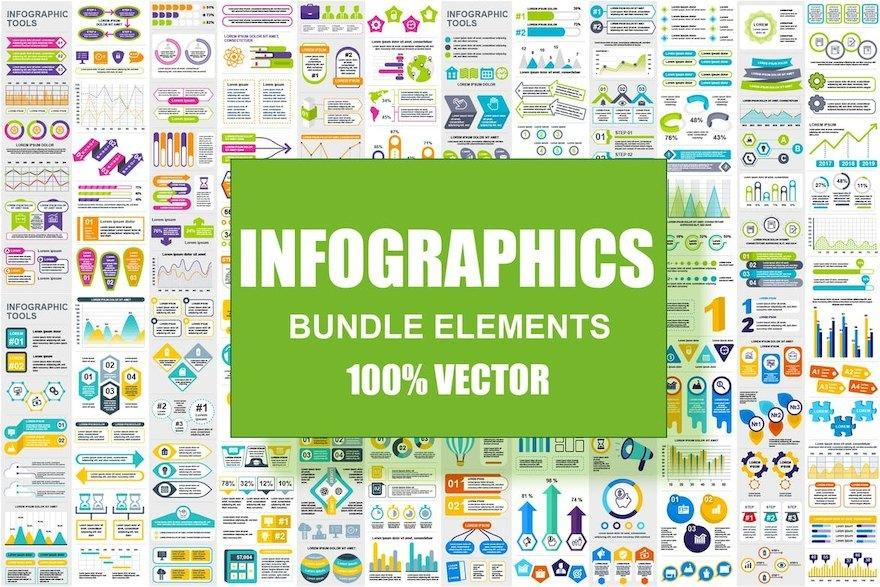 超全面的ppt信息图表元素设计模板[Illustrator/PowerPoint/PNG/svg/184.2MB]百度网盘下载插图(2)