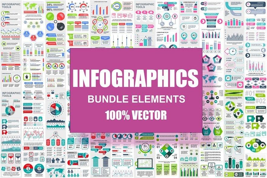 超全面的ppt信息图表元素设计模板[Illustrator/PowerPoint/PNG/svg/184.2MB]百度网盘下载插图(3)
