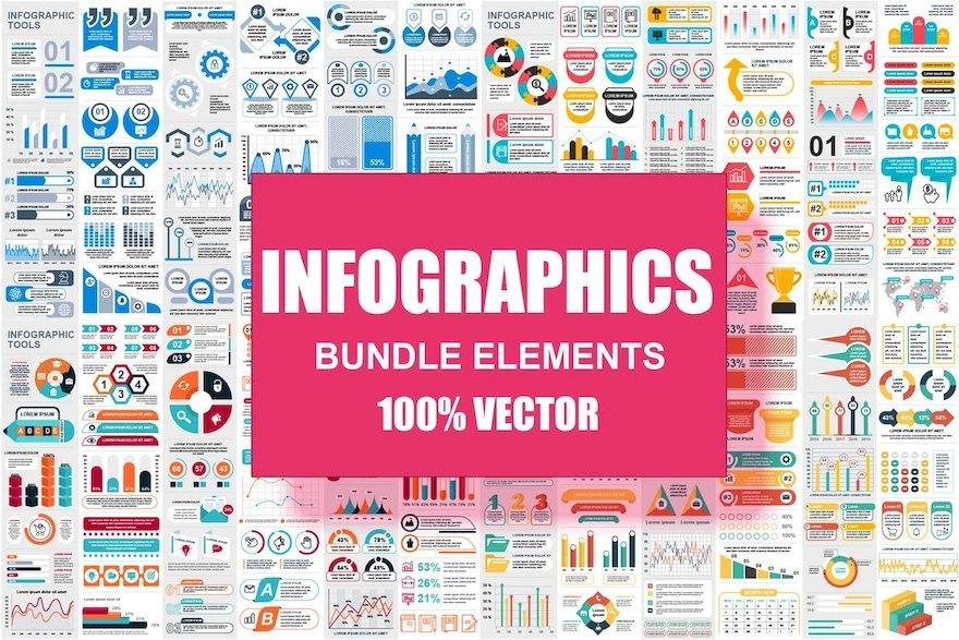 超全面的ppt信息图表元素设计模板[Illustrator/PowerPoint/PNG/svg/184.2MB]百度网盘下载插图(4)
