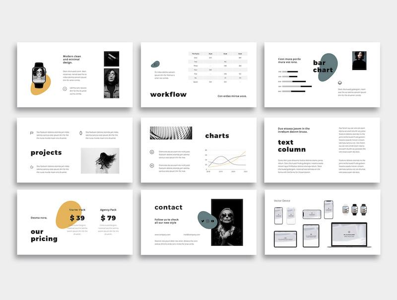 简单现代的产品介绍主题演讲模板[PowerPoint/Keynote/5.9MB]百度网盘下载
