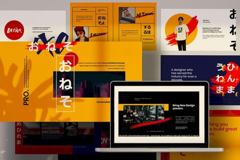 日式风格设计主题演讲ppt模板[PowerPoint/Keynote/13MB]百度网盘下载