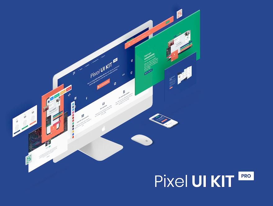现代创意的html网页ui设计组件模板[HTML/18.8MB]