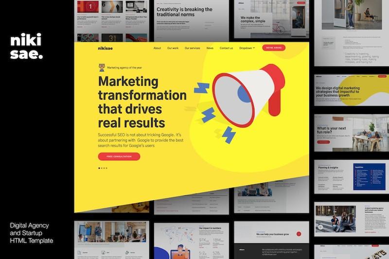 时尚创意的企业网站html设计模板[HTML/1.7MB]百度云网盘下载