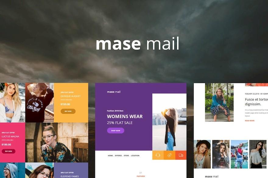 服装电商电子邮件设计模板[Photoshop/HTML/3.8MB]百度云网盘下载