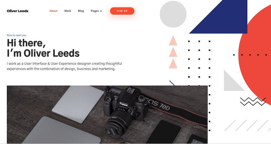 现代的个人作品简历网站html设计模板[HTML/1.6MB]百度云网盘下载