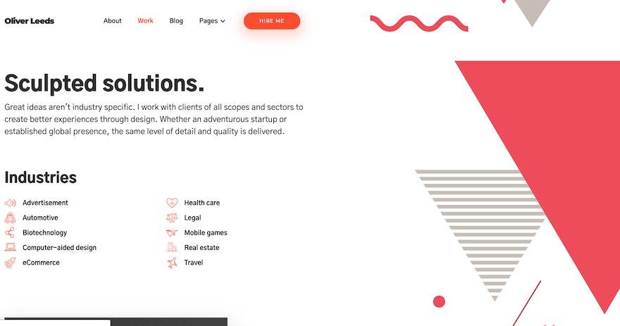 现代的个人作品简历网站html设计模板[HTML/1.6MB]百度云网盘下载插图(2)