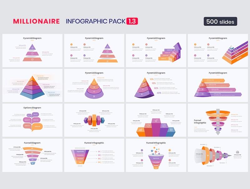 精美的ppt信息图表元素设计模板[PowerPoint/30.2MB]百度网盘下载插图(2)