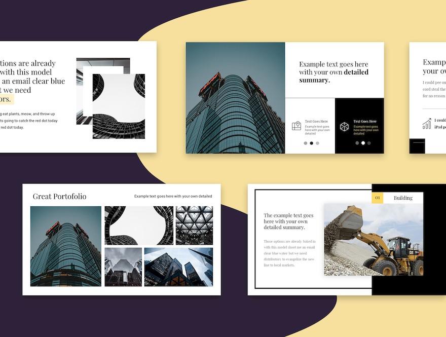 黑白配色的简洁商业PPT模板[PowerPoint/170KB]百度网盘下载插图(4)