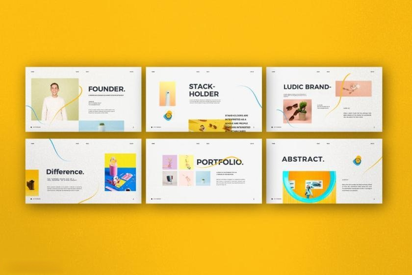 时尚动感活泼配色的公司介绍ppt设计模板[PowerPoint/4.88MB]百度网盘下载插图(3)