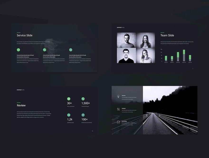 简洁的公司介绍ppt模板[PowerPoint/Keynote/15.3MB]百度网盘下载