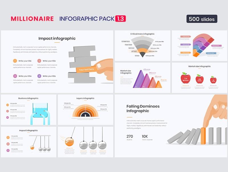 精美的ppt信息图表元素设计模板[PowerPoint/30.2MB]百度网盘下载插图(4)
