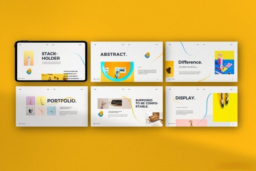 时尚动感活泼配色的公司介绍ppt设计模板[PowerPoint/4.88MB]百度网盘下载插图(5)