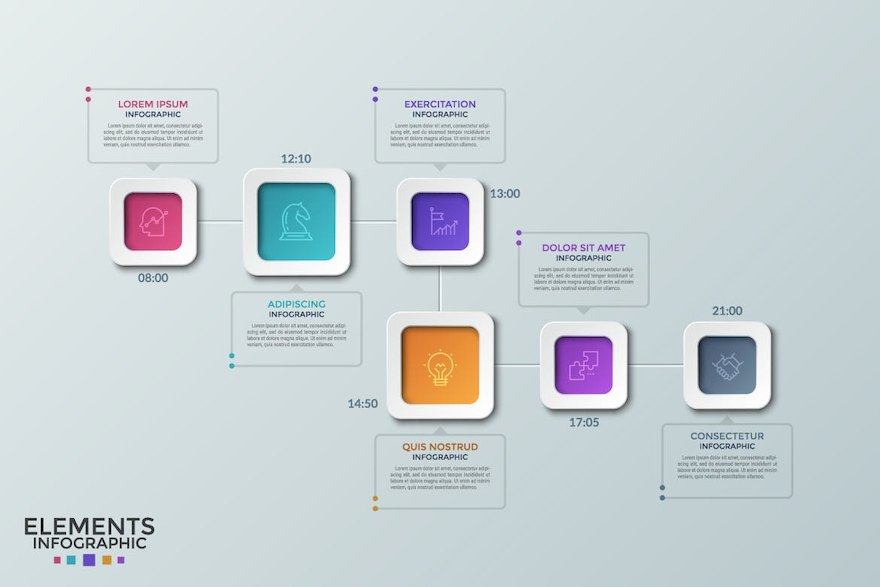 精美的ppt方案信息图表设计模板[Photoshop/Illustrator/121.1MB]百度网盘下载插图(5)
