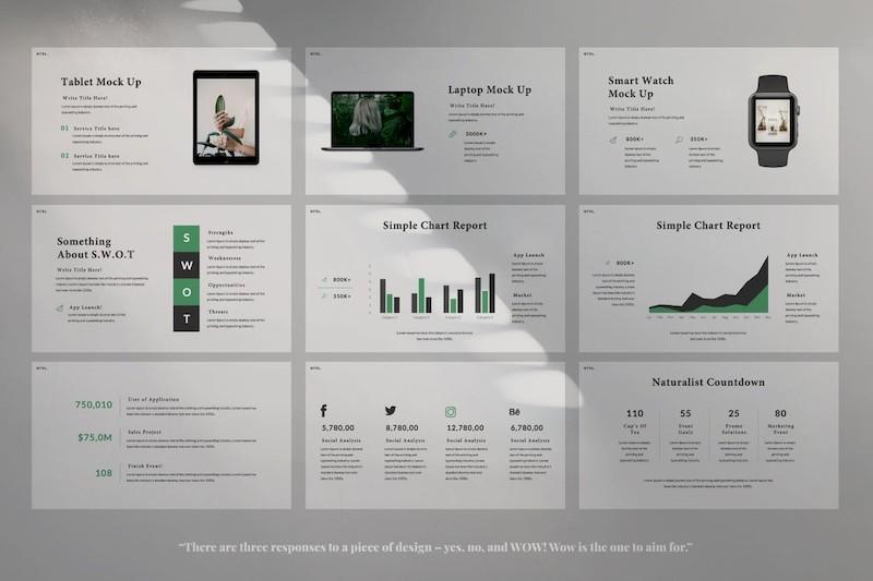 灰色简洁设计大气的工作汇报ppt模板[PowerPoint/1MB]百度网盘下载