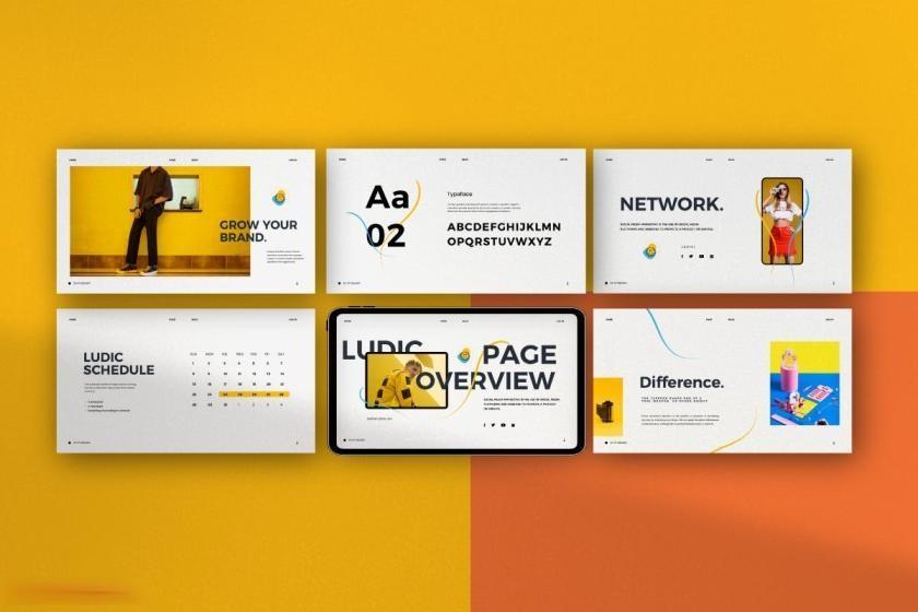 时尚动感活泼配色的公司介绍ppt设计模板[PowerPoint/4.88MB]百度网盘下载插图(7)