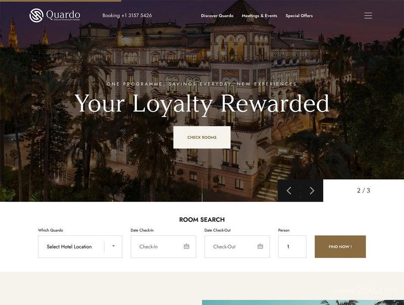 酒店预定网站wp主题模板