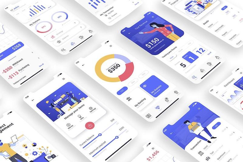 设计简洁的金融appui设计模板集-Photoshop/Illustrator素材-7.jpg