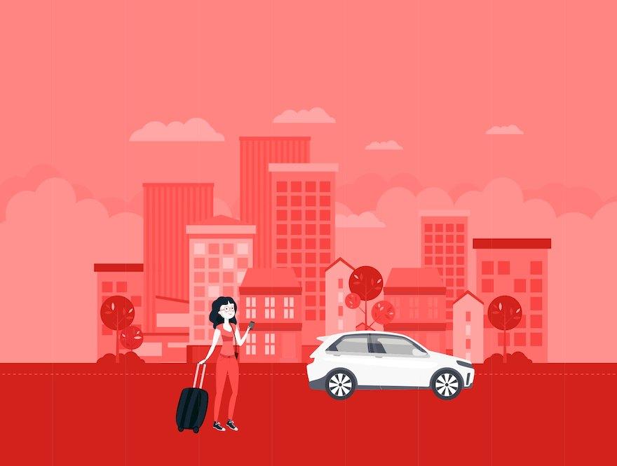 时尚的旅行网约车应用appui设计模板-Sketch/Adobe XD/Figma素材