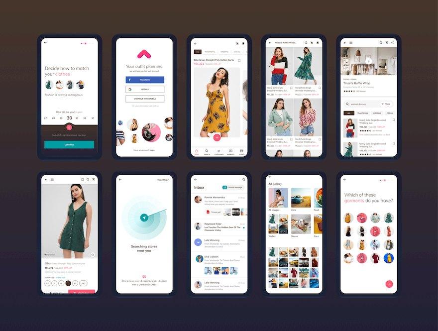 时尚服饰电商app ui设计模板-Sketch素材