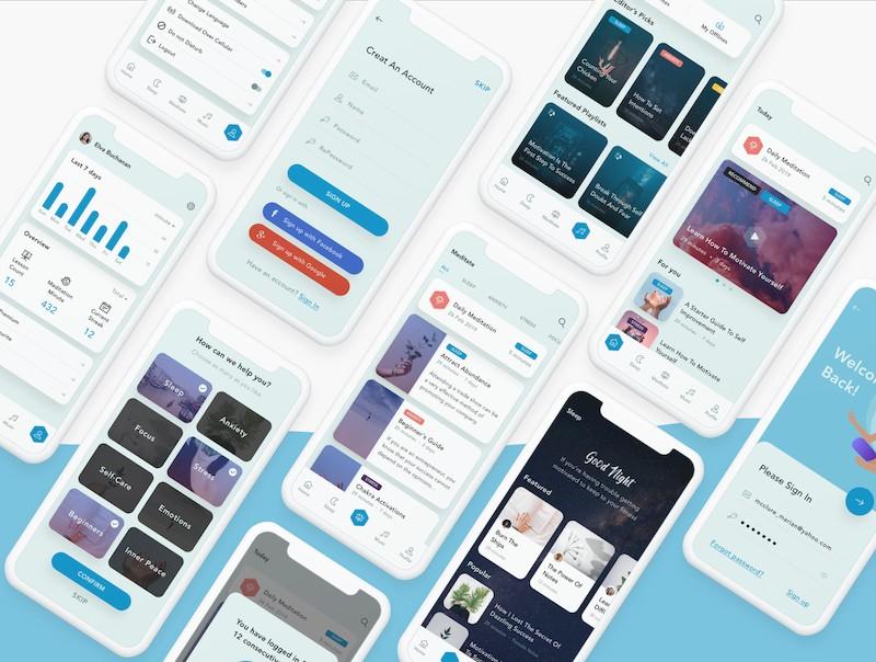 设计精巧的禅定app界面设计模板-Sketch素材4.jpg
