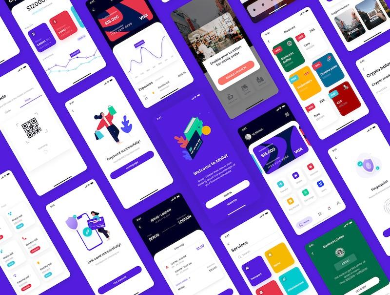 实用的金融钱包app界面设计模板-Sketch/Figma素材-4.jpg