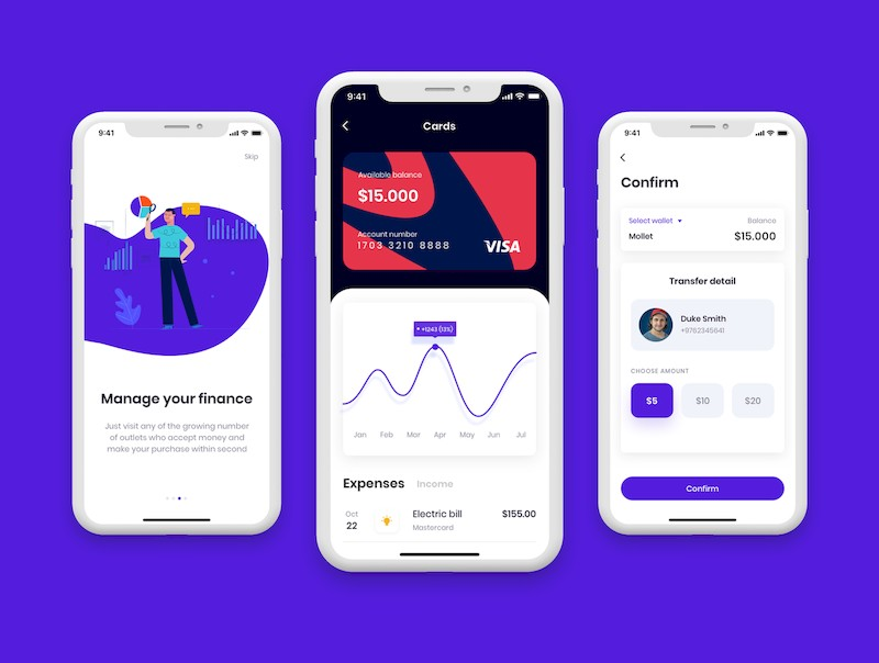 实用的金融钱包app界面设计模板-Sketch/Figma素材-3.jpg