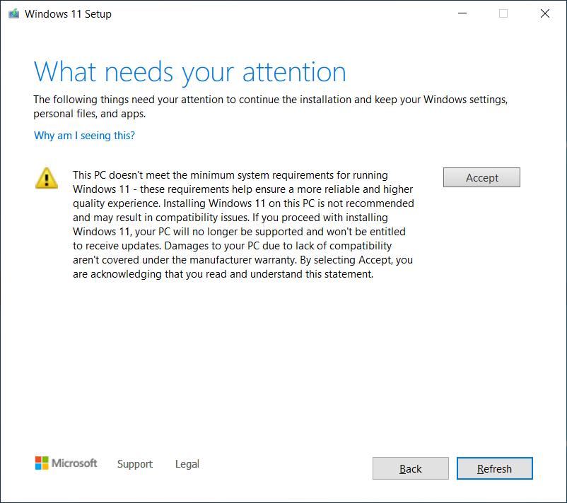 微软警告:不要在不受支持的电脑上安装 Windows 11插图