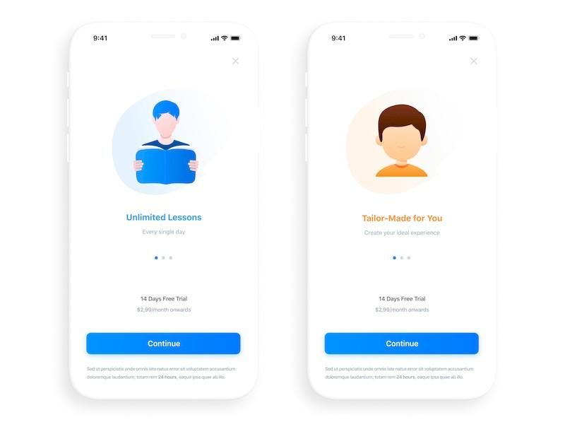 iOS语言教学app设计模板-Figma素材-3.jpg