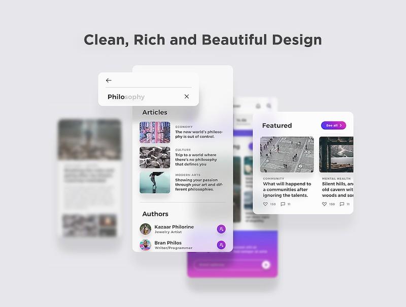 漂亮简洁的ios社交博客app模板-Sketch/Photoshop/Adobe XD/Figma素材-4.jpg