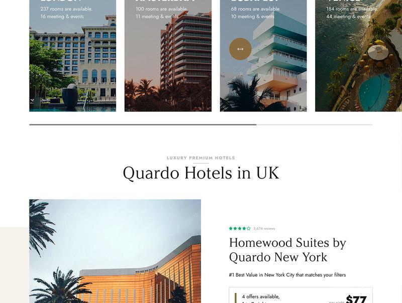 酒店预定网站wp主题模板插图(2)