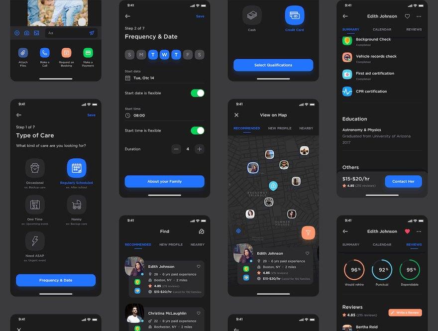 超全面的家居服app界面设计模板-Sketch/Figma素材